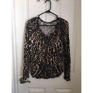 Cheetah print long sleeve